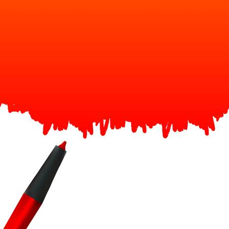 Highlighter pen with Stain artistic design Illustration
