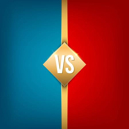 Creative vector illustration of versus background. VS art design for competition, fight, sport match, event, game, video, dance, singer. Abstract concept graphic element.