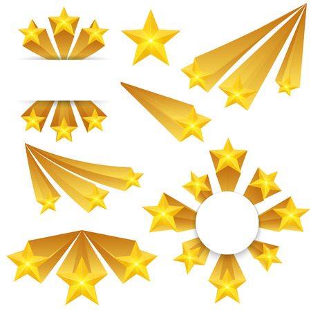 banger: Gold start creative pattern design. Illustration