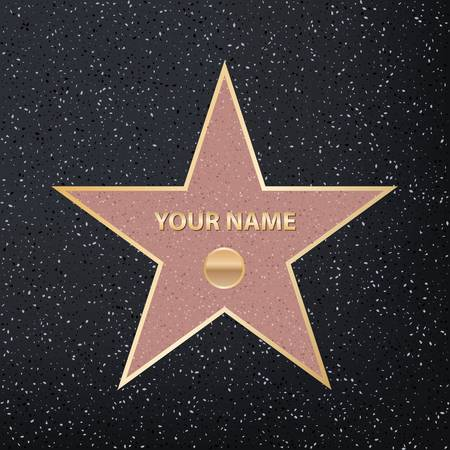 Creative vector illustration of sidewalk famous actor star. Hollywood walk of fame art design. Abstract concept graphic element of blank template on granite square in boulevard Stock Vector - 89599423