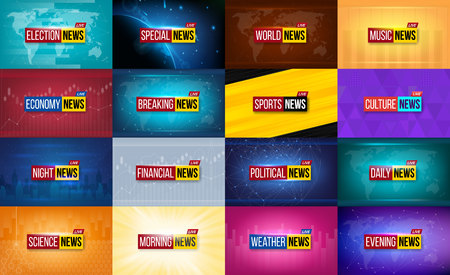 Creative vector illustration of breaking news background. World, sports, weather, financial, political, culture, science, morning, night, daily, evening, economy, music, election, special tv show.
