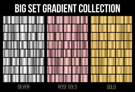 Creative vector illustration of gradient collection. Art design background texture. Abstract concept graphic element
