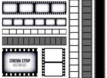 Set of strip films icon.