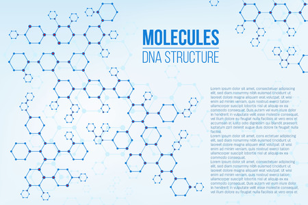 Creative vector illustration of molecular structure coding connection genome isolated on background. Art design particles, wireframe mesh in scientific nanotechnology. Abstract concept dna element. Stock Illustratie