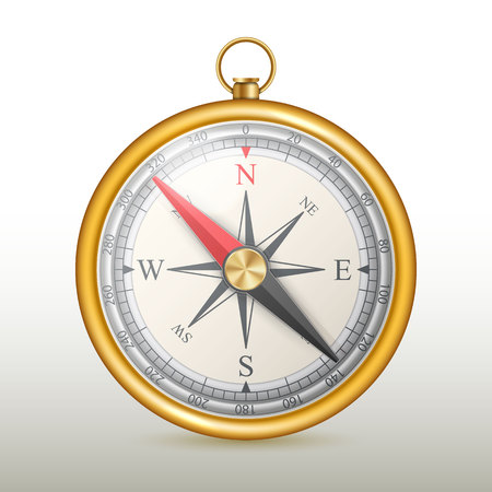 Creatieve vectorillustratie van windroos magnetisch kompas geïsoleerd op transparante achtergrond. Kunstontwerp voor wereldwijde reizen, toerisme, verkenning. Concept grafisch element voor navigatie, oriëntatie. Stockfoto - 93117658