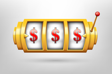 Creative vector illustration of 3d gambling reel, casino slot machine isolated on transparent background. Art design. Concept abstract graphic element.
