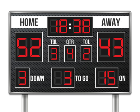 Creative vector illustration of american football scoreboard vector illustration