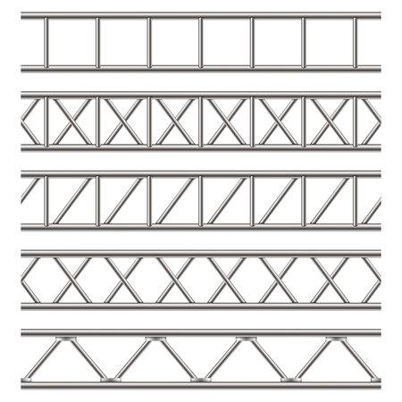 透明な背景に隔離された鋼トラス桁の創造的なベクトル図。看板のためのアートデザイン水平金属構造。抽象概念グラフィック要素。