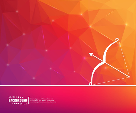 Abstract creative concept vector line drawing of a bow