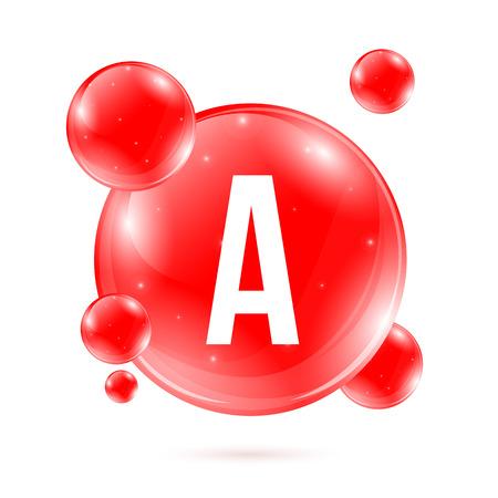 Creative vector illustration of vitamin A.