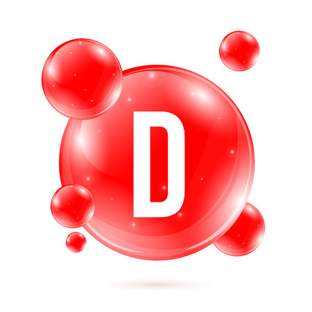 Creative vector illustration of vitamin D.   Art design.