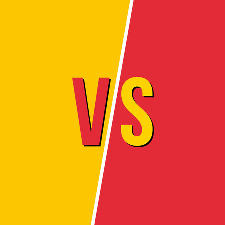 Creative vector illustration of versus background. VS logo art design for competition, fight, sport match, event, game, video, dance, singer. Abstract concept graphic element 向量圖像