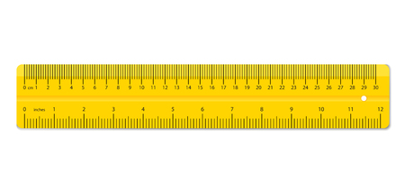 Creative vector illustration of realistic colorful ruler