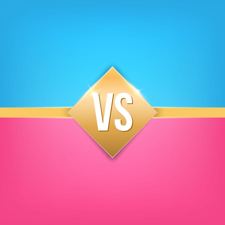 Creative vector illustration of versus background. VS logo art design for competition, fight, sport match, event, game, video, dance, singer. Abstract concept graphic element. 写真素材