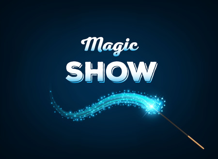 Creative vector illustration of miracle magical stick with sparkle isolated on transparent background. Art design wizard wand tool glow. Abstract concept graphic stars, lights, energy element