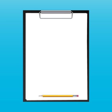 Creative vector illustration of realistic clipboard with paper sheets and pen with isolated on transparent background. Art design blank template mockup. Abstract concept graphic element