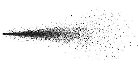 Ilustración de vector creativo de agua pulverizada niebla aislada sobre fondo transparente. Diseño de arte 3d nube de atomizador. Efecto pulverizador de gatillo con boquillas de chorro. Elemento gráfico concepto abstracto