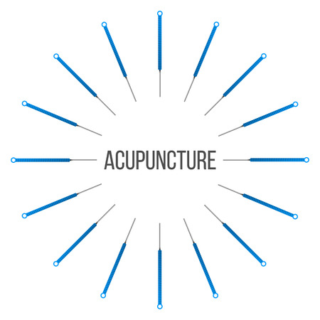 Creative vector illustration of acupuncture therapy isolated on transparent background. Art design spa treatments. Abstract concept graphic element