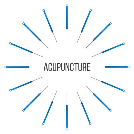 Creatieve vectorillustratie van acupunctuur therapie geïsoleerd op transparante achtergrond. Art design spa-behandelingen. Abstract begrip grafisch element Vector Illustratie