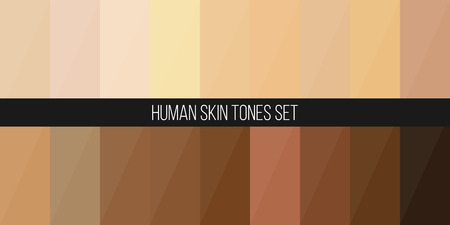 Creative vector illustration of human skin tone color palette set isolated on transparent background. Art design. Abstract concept person face, body complexion graphic element for cosmetics Foto de archivo - 103338746