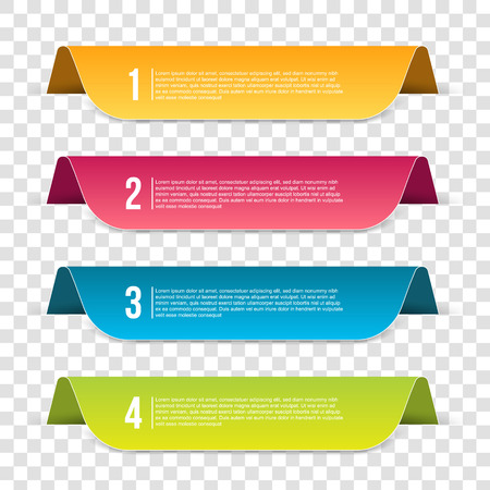 Creative vector illustration of infographics template step isolated on transparent background. Art design. Abstract concept business, education, web, flyers, banners, brochures graphic element