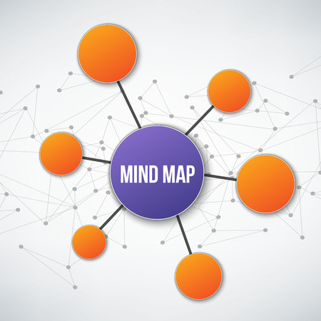 Creative vector illustration of mind map infographic template isolated on transparent background with place for your content. Art design. Abstract concept graphic element.
