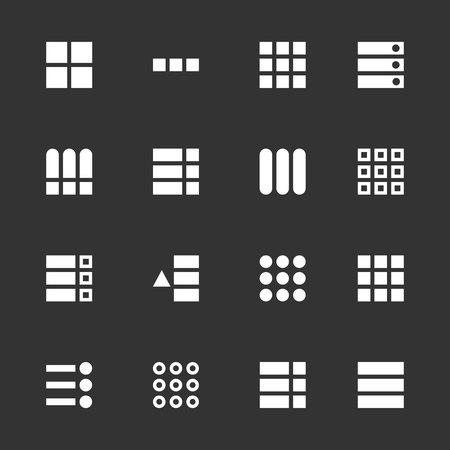 Illustration vectorielle créative de l'interface utilisateur de hamburger, icônes de navigation de l'interface utilisateur du menu UX isolés sur fond. Commandes de bouton d'interface de navigation Web de conception d'art. Élément graphique concept abstrait