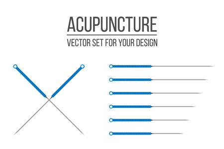 Creatieve vectorillustratie van acupunctuurtherapie geïsoleerd op transparante achtergrond. Art design spa-behandelingen. Abstract begrip grafisch element Vector Illustratie