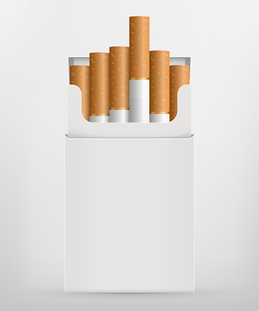 Creative vector illustration of realistic cigarette set isolated on transparent background. Art design different stages of burn. Abstract concept graphic element Illustration