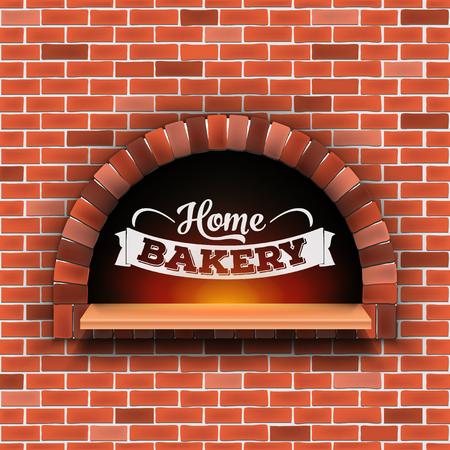 透明な背景に隔離された火と石レンガ、ピザ薪オーブンの創造的なベクトルイラスト。アートデザインホームベーカリー。抽象的なコンセプトグラフィックピッツェリアレストラン、パンショップの要素。 写真素材 - 108757609