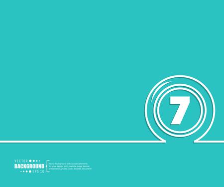 Abstrakter kreativer Hintergrund des Konzeptvektorlinienabgehobenen betrages für Netz, bewegliche APP, Illustrationsschablonendesign, Geschäft infographic, Seite, Broschüre, Fahne, Darstellung, Plakat, Abdeckung, Broschüre, Dokument. Vektorgrafik