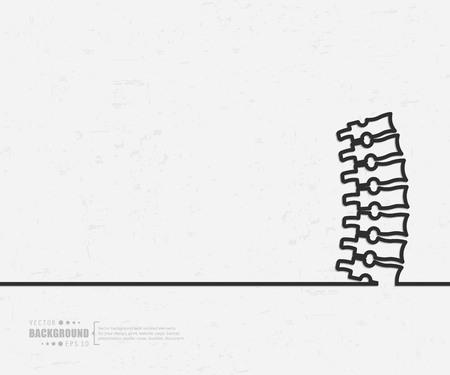 Dessin de ligne de vecteur de concept créatif abstrait arrière-plan pour le web, application mobile, conception de modèle d'illustration, infographie d'entreprise, page, brochure, bannière, présentation, affiche, document de livret de couverture