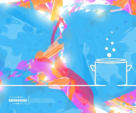 Abstract creative concept vector line draw background for web, mobile app, illustration template design, business infographic, page, brochure, banner, presentation, poster, cover booklet document