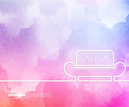 Abstract creative concept vector line draw background for web, mobile app, illustration template design, business infographic, page, brochure, banner, presentation, poster, cover booklet document Vettoriali