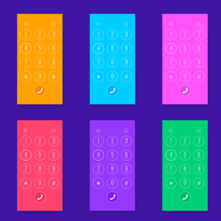 Creative vector illustration of phone dial, keypad with numbers isolated on transparent background. Art design smartphone touchscreen device. Abstract concept graphic user interface element. Illustration
