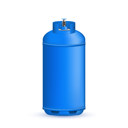 Creative vector illustration of gas cylinder, tank, balloon, container of propane, butane, acetylene, carbon dioxide isolated on transparent background. Art design template. Abstract concept element.