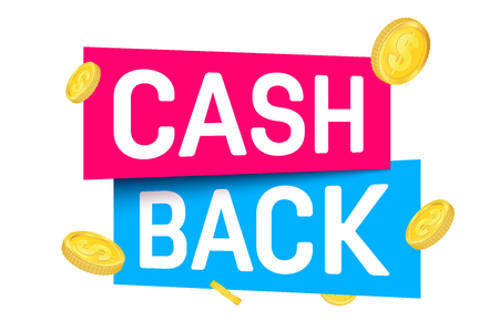 Creative vector illustration of cash back, cashback return, money refund tag isolated on background. Art design sticker, labels, emblem advertisement banner template. Abstract concept graphic element.