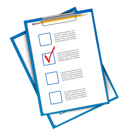 Creative vector illustration of to do check list ticks,clipboard on background. Art design planning to-do things, survey, exam template. Abstract concept graphic element.