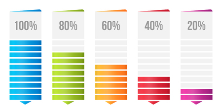 Creative vector illustration of columns bar chart, comparison table infographic isolated on transparent background. Art design business data slide template. Abstract concept graphic diagram element. Imagens - 124954840