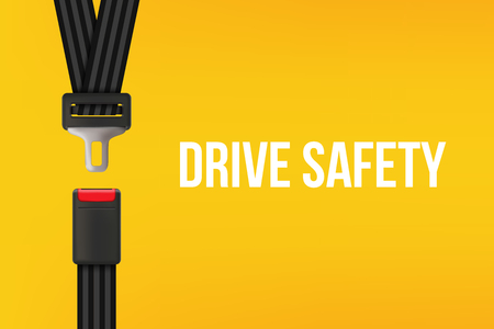 Creative vector illustration of safety seat belt, open and closed seatbelt isolated on transparent background. Art design road strap. Abstract concept car, airplane driver protection graphic element. Illustration