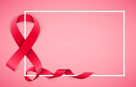Creative vector illustration of breast cancer awareness campaign in october month background. Art design realistic stroke pink ribbon. Abstract concept graphic paper or fabric element.