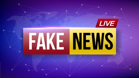Creative vector illustration of fake news live broadcasting television screen isolated on transparent background. Art design channel tv template. Abstract concept graphic element.