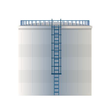 Creative vector illustration of water tank, crude oil storage reservoir isolated on transparent background. Art design gasoline, benzine, fuel cylinder template. Abstract concept graphic element. Ilustração