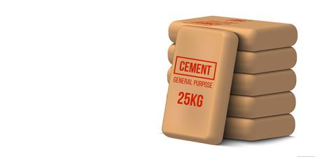 Illustrazione vettoriale creativo di sacchi di cemento, sacchi di carta isolati su sfondo trasparente. Modello di disegno artistico. Elemento grafico concetto astratto. Vettoriali
