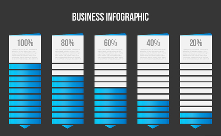 Creative vector illustration of columns bar chart, comparison table infographic isolated on transparent background. Art design business data slide template. Abstract concept graphic diagram element. Imagens - 124954904