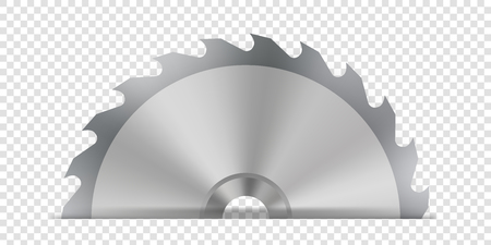 Creative vector illustration of circular saw blade for wood, metal work with welding metal fire sparks isolated on transparent background. Art design template. Abstract concept graphic weld element. Ilustração