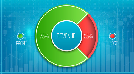 Creative vector illustration of revenue, profit, expenses diagram showing infographic isolated on transparent background. Art design business planning template. Abstract concept graphic element.