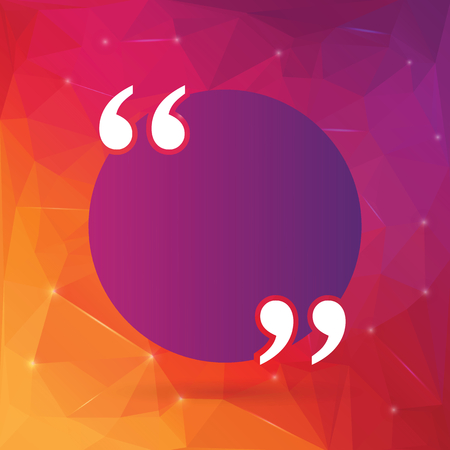 Abstract concept empty speech square quote text bubble. For web and mobile app isolated on background, illustration template design, creative presentation, business infographic social media. Stok Fotoğraf