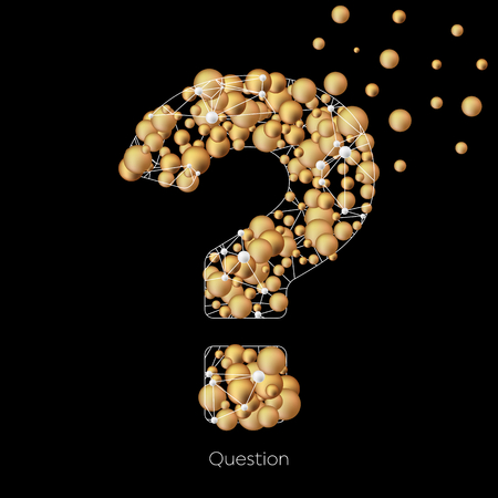 Creative concept icon of question mark for Web and Mobile Applications isolated on background. Art illustration template design, Business infographic and social media, origami icons Banque d'images