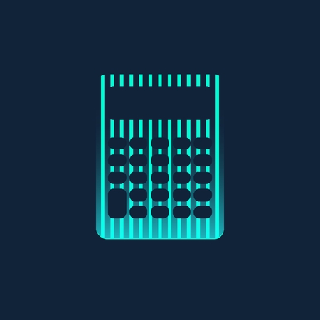 Abstract Creative concept icon of calculator for Web and Mobile Applications isolated on background. illustration template design, Business infographic and social media, origami icons